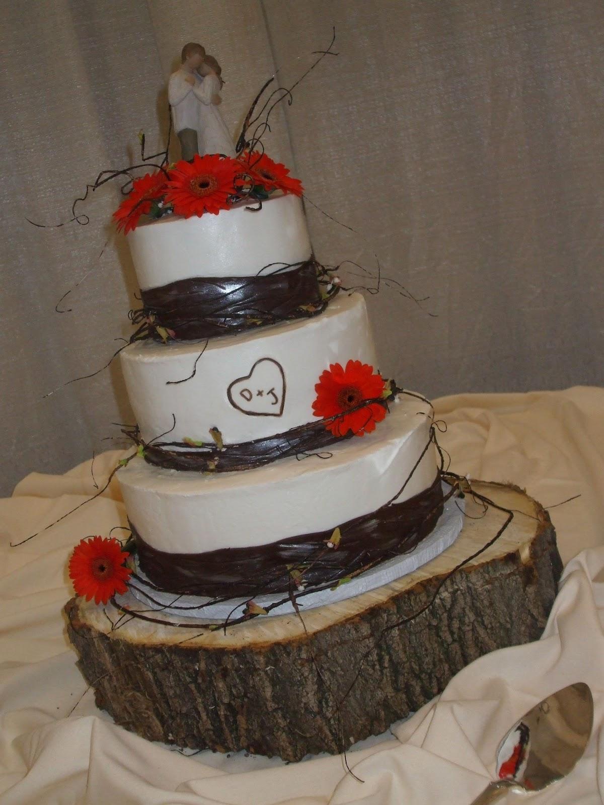 Cakes By Paula Rustic Wedding Cake