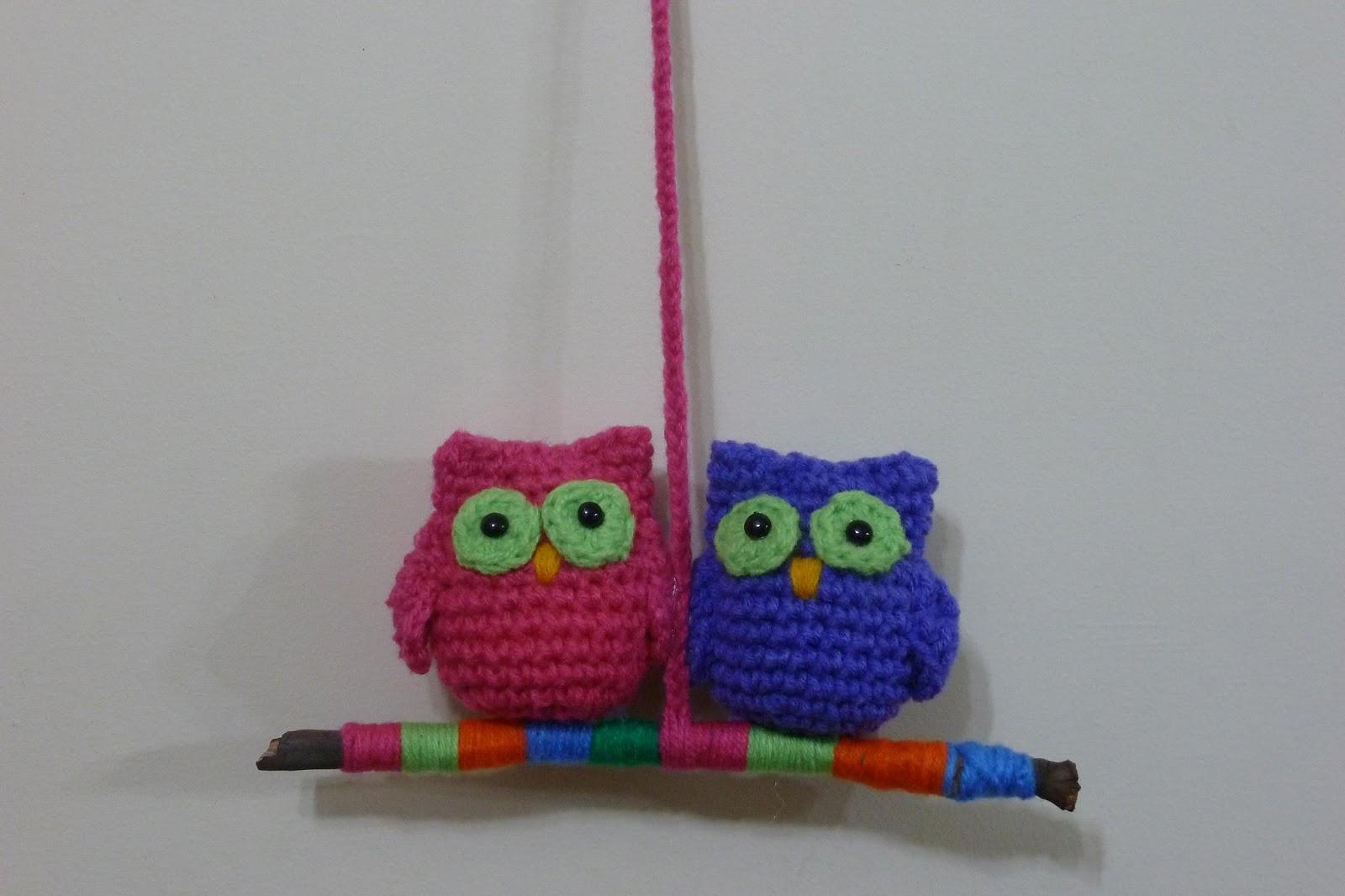 Regalos: cactus y buhos al crochet