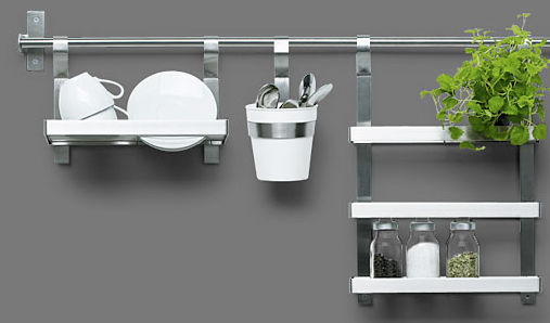 Ikea Kitchen Island Installation Guide ~ the Ikea Grundtal rail system I wrote about before has a cutlery caddy