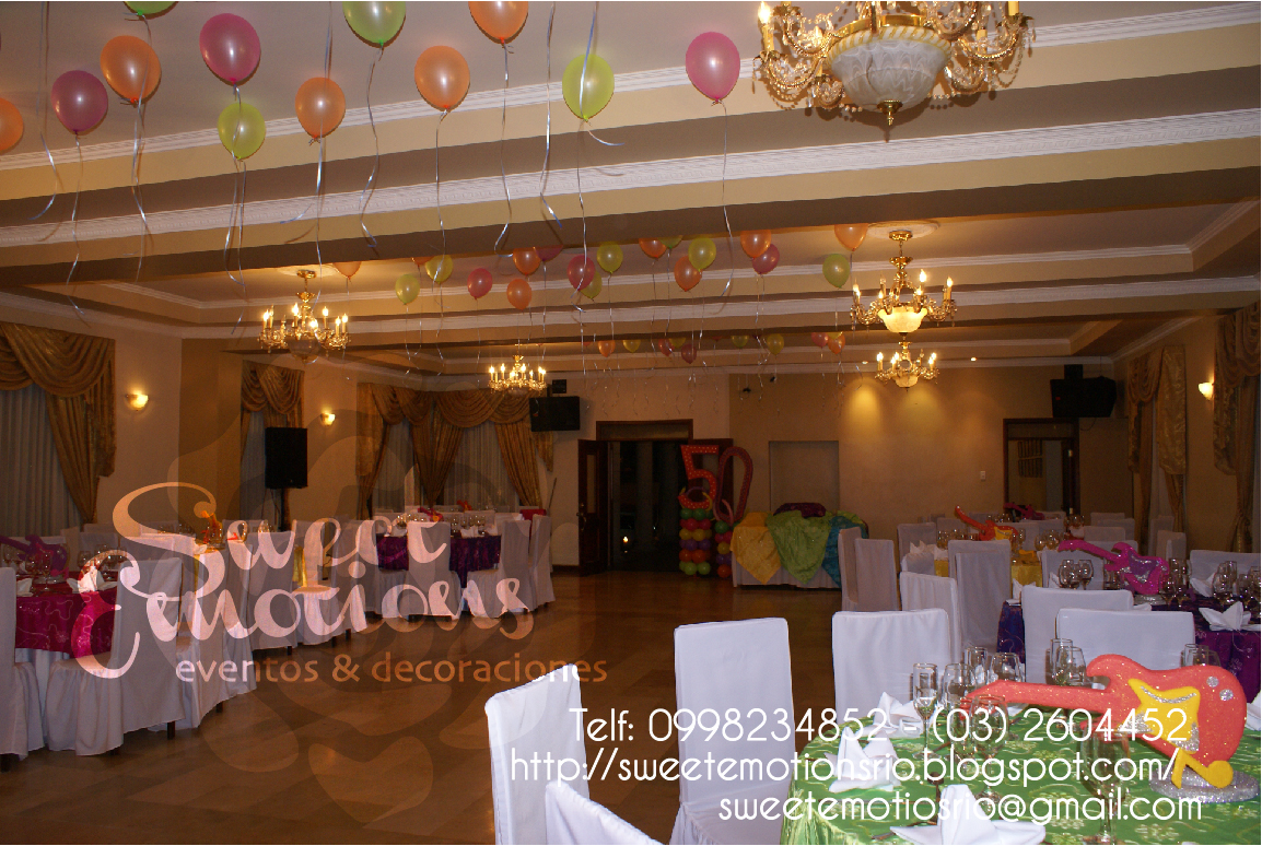 sweet emotions decoraci n fiesta de 50 a os