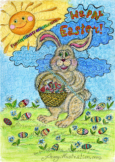 Funny Easter Bunny Cartoon Cards Picture