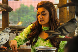 Kajal Aggarwal and Dhanusha in new movie Maari Spicy Stills
