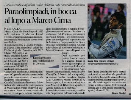 il vetrallese Marco Cima alle Paraolimpiadi