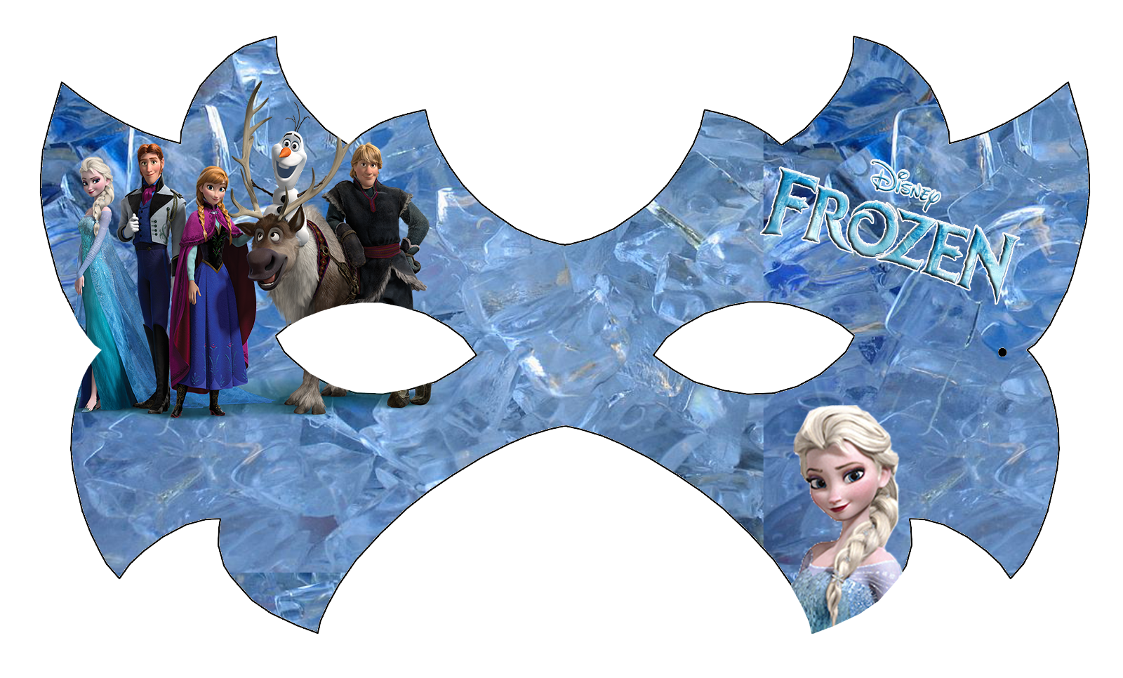 Frozen Free Printable Mask Is It For PARTIES
