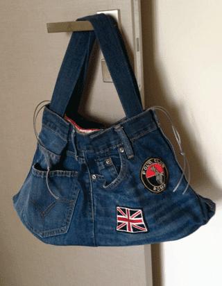 Ddjewels riciclo creativo borsa in jeans for Borse fai da te jeans