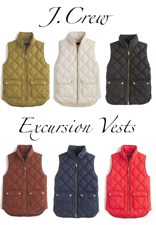 J.Crew Quilted Excursion Vests
