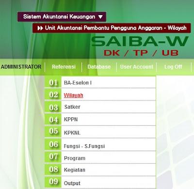 Aplikasi SAIBA-W DK/TP/UB