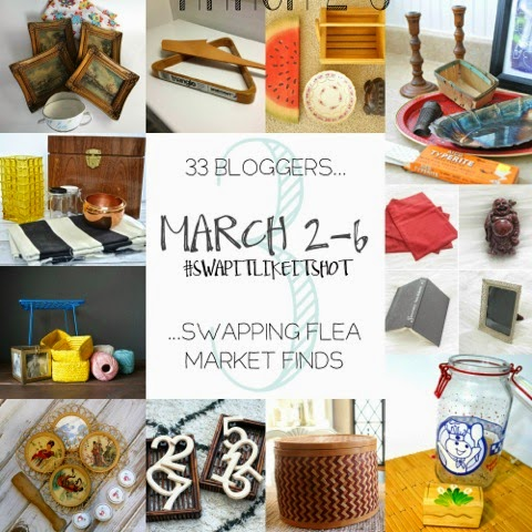 Swap It Like It's Hot: 33 Bloggers Swapping Flea Market Finds and Giving Them New Life | www.blackandwhiteobsession.com