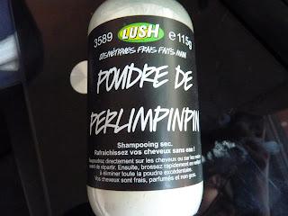 shampoing sec, poudre de perlimpinpin, Lush, produits lush, avis lush