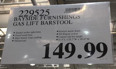 Deal for the Bayside Furnishings Gas Lift Bar Stool at Costco