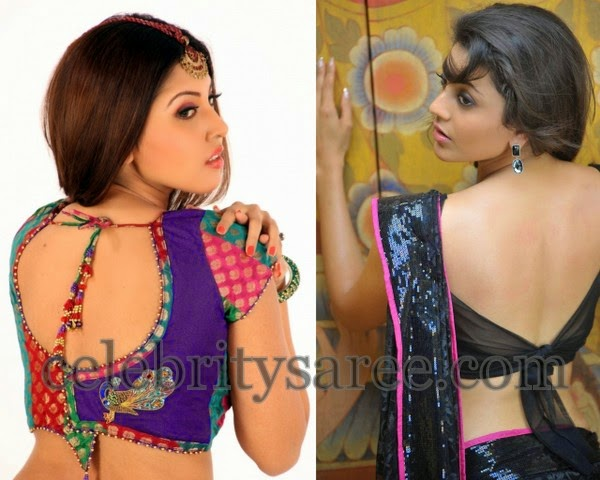 Saree Blouses with Knots