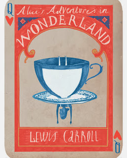 illustration by sara mulvanny of alice in wonderland tea cup