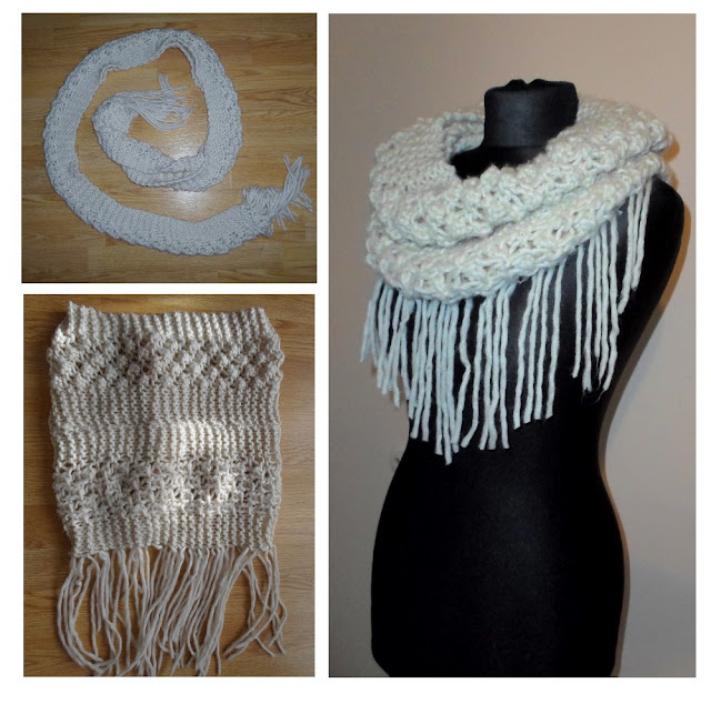 Jak zrobić komin z wąskiego szalika DIY // How to make an infinity scarf of narrow one DIY