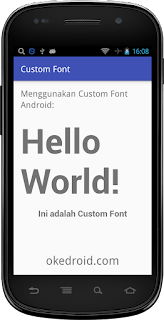 Hasil Custom Fonts Android