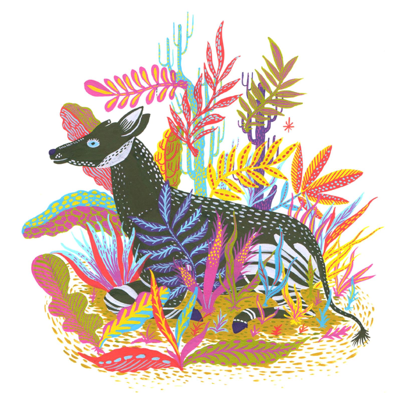 Ma Bicyclette: Inspiring Artists | Llew Mejia - okapi illustration design