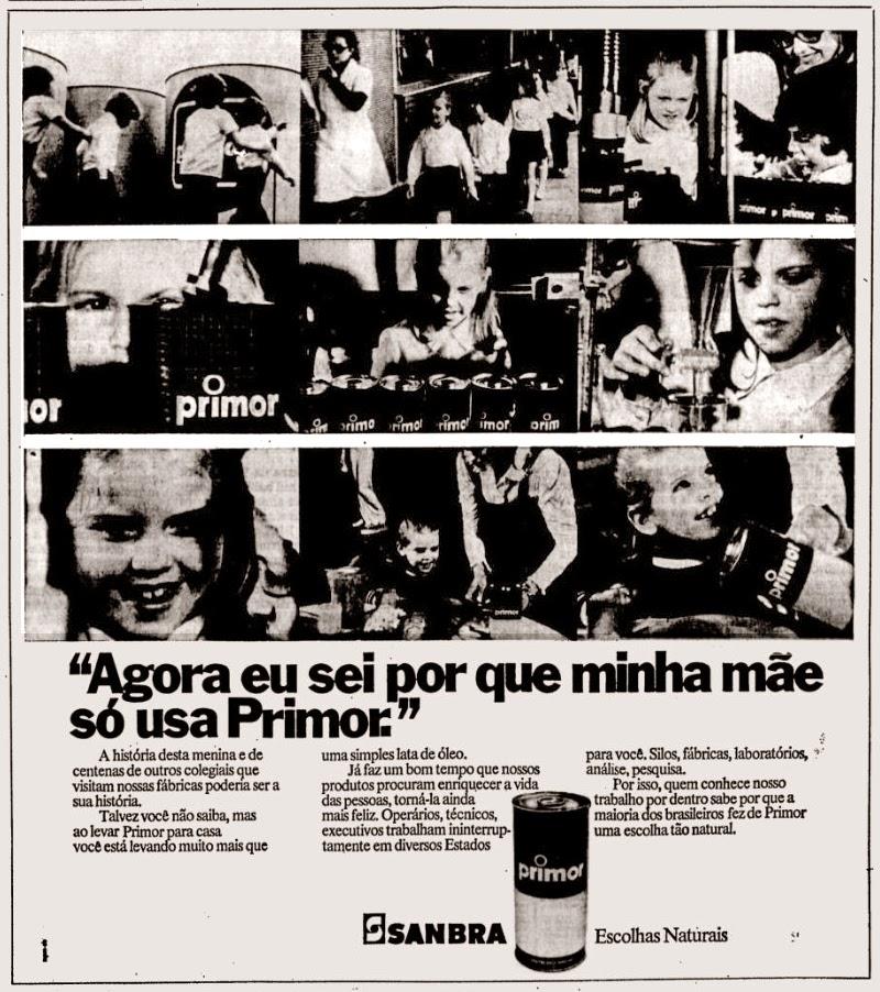 sanbra. 1975. propaganda década de 70. Oswaldo Hernandez. anos 70. Reclame anos 70