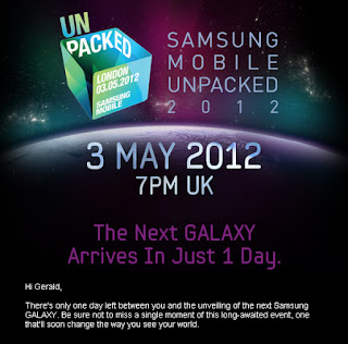 May 3 is the Big Day! The Next Galaxy: Samsung Galaxy SIII