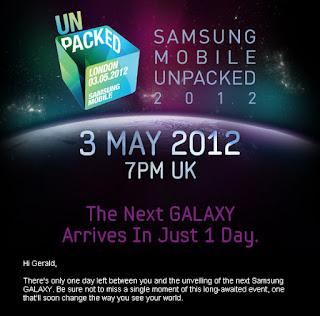 May 3 is the Big Day! The Next Galaxy: Samsung Galaxy SIII