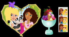 stardoll free items stuff lego friends heart picture fruit bowl photo strip