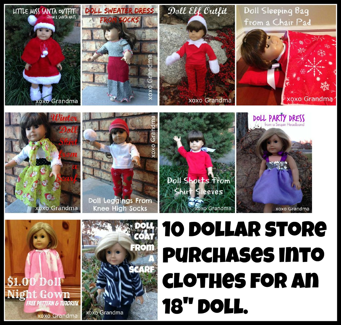 how to make doll things