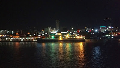 night view from the ship, penang night view