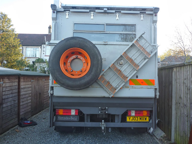 Swing out wheel carrier fabricated and fitted by Specialized Group
