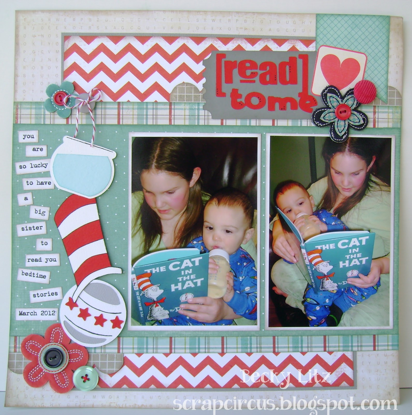 Scrap Circus Cooking with Cricut Dr Seuss Challenge