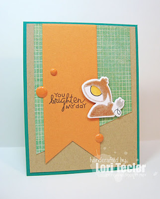 You Brighten My Day card-designed by Lori Tecler/Inking Aloud-stamps and dies from Paper Smooches