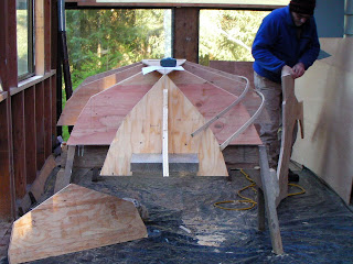 This winter's indoor project is a Melonseed Skiff , an adaptation of ...