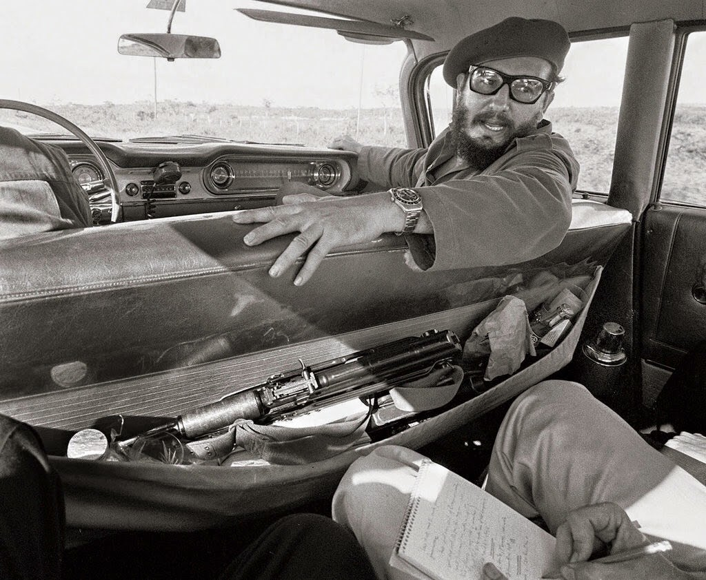 Fidel Castro Giving An Interview In His Car 1964