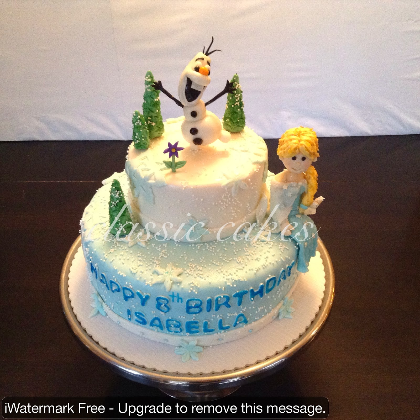 CLASSIC CAKES 2 Tier Frozen movie cake with Olf Elsa