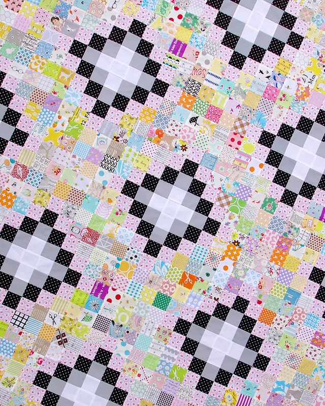 Irish Chain Scrap Buster Quilt - Work in Progress and Tutorial | Red Pepper Quilts