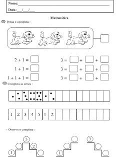 atividades de sequencia numérica
