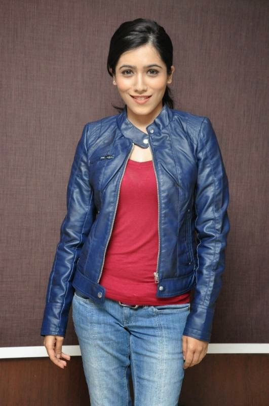 Actress Gazal Somaiah Latest Cute Hot Exclusive Blue Jacket Spicy Photos Gallery