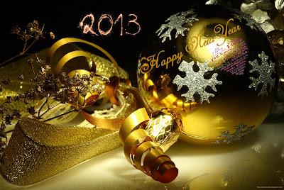 bonne année 2013 or