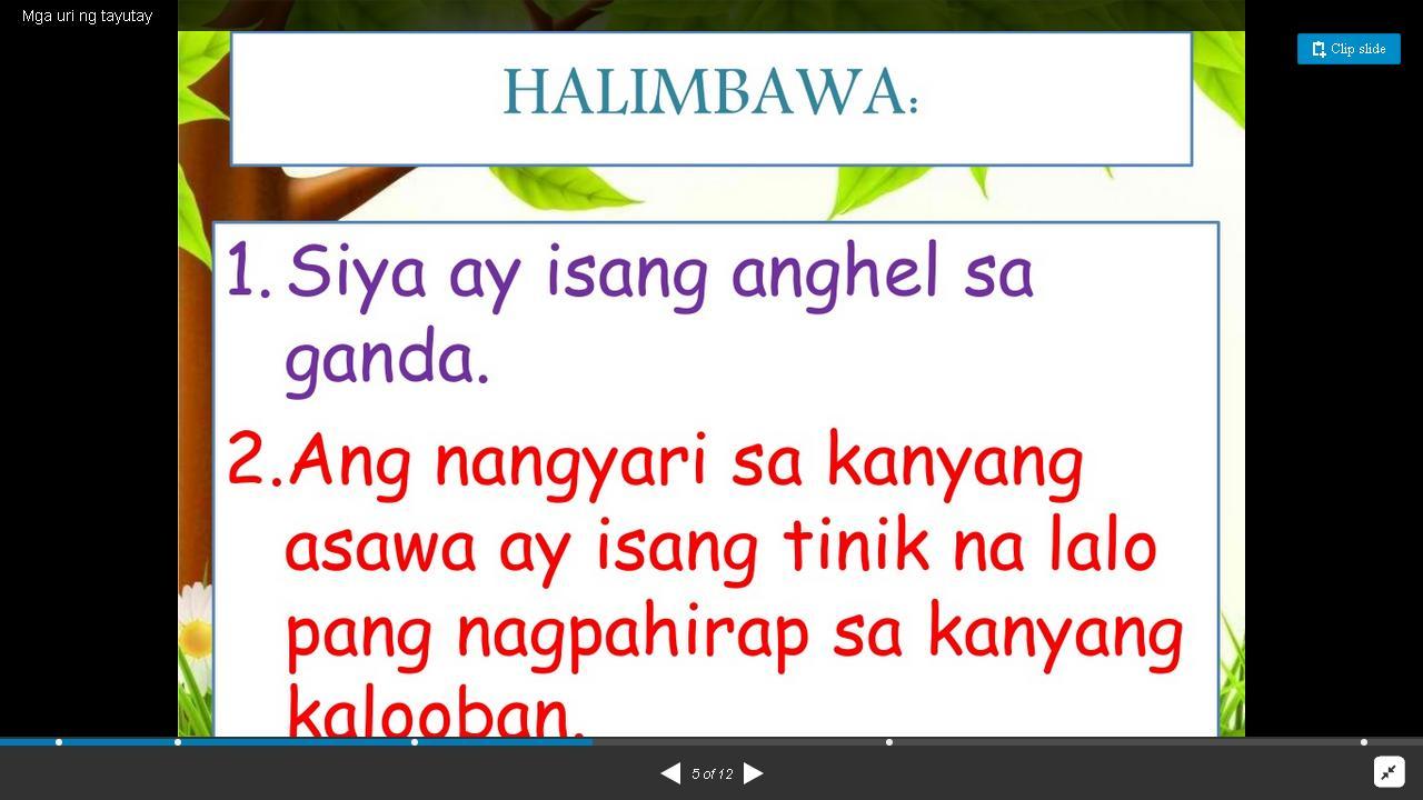 halimbawa ng pagbibigay katuturan Ilan sa mga halimbawa ng maaring simula: a mga uri ng paglalahad 1 pagbibigay katuturan - napalilinaw nito ang pag-uunawa sa kahalagahan ng.
