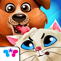 Kitty & Puppy: Love Story App iTunes App Icon Logo By Kids Fun Club by TabTale - FreeApps.ws