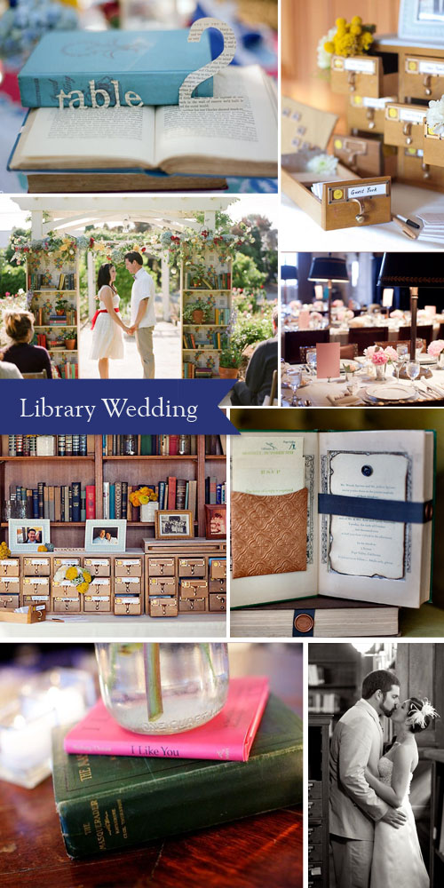 library theme wedding inspiration ideas