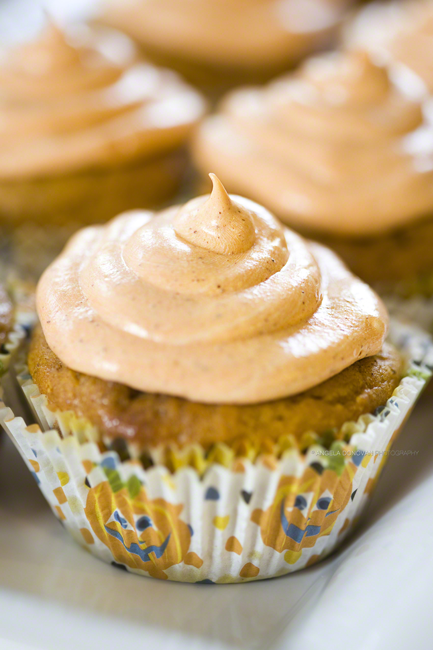 Plain Gourmet: Spiced Pumpkin Cupcakes with Cream Cheese Frosting