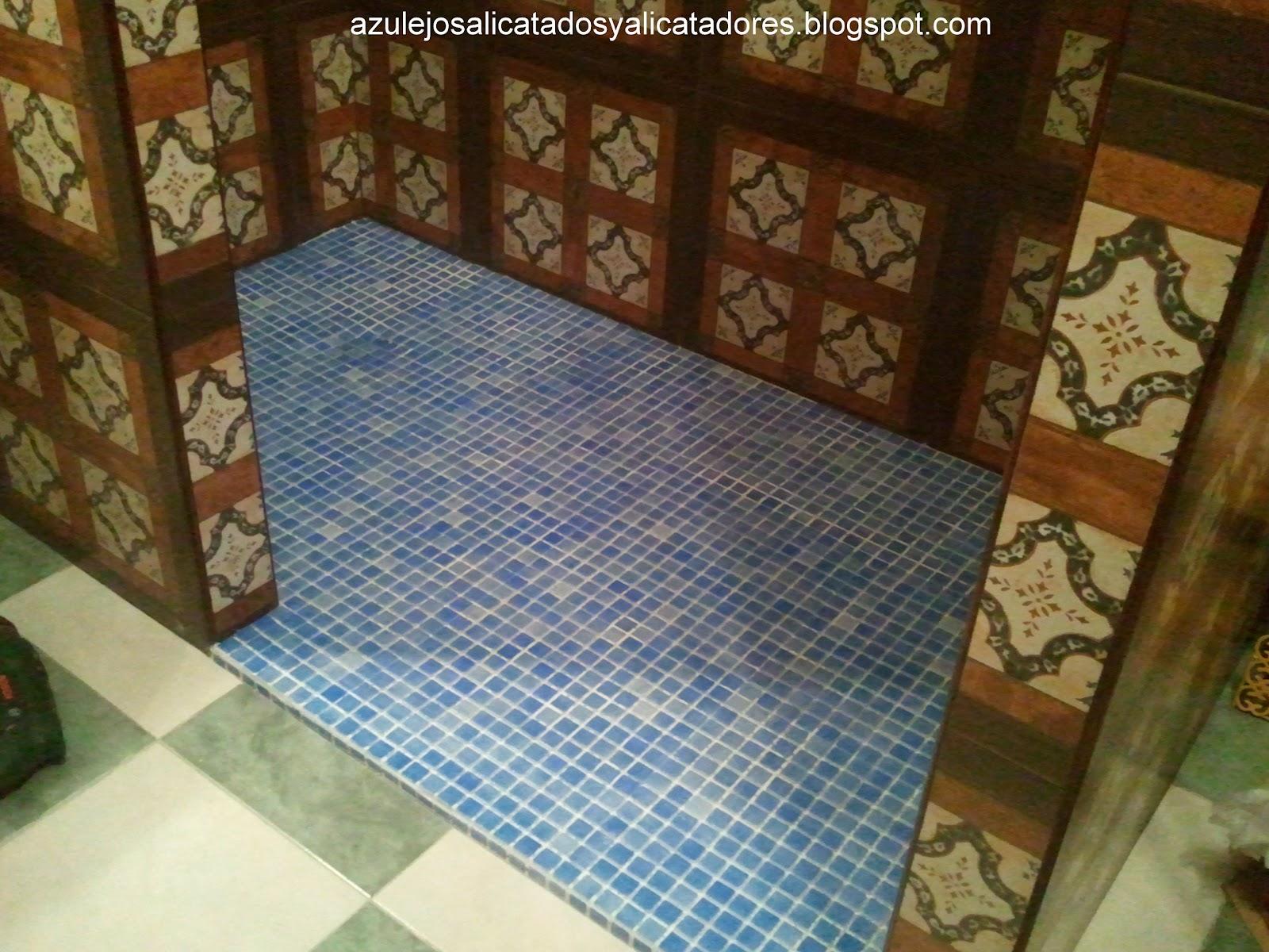 Azulejos alicatados y alicatadores ducha adaptada a - Suelo antideslizante ducha ...