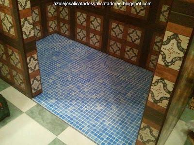 Azulejos alicatados y alicatadores ducha adaptada a - Duchas con gresite ...