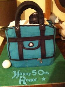 Lawn Bowls Bag cake