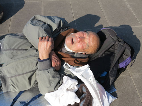 Homeless in Ueno Park, Tokyo