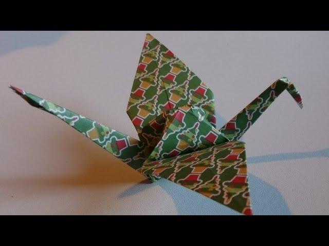 grue traditionnelle en origami. Black Bedroom Furniture Sets. Home Design Ideas
