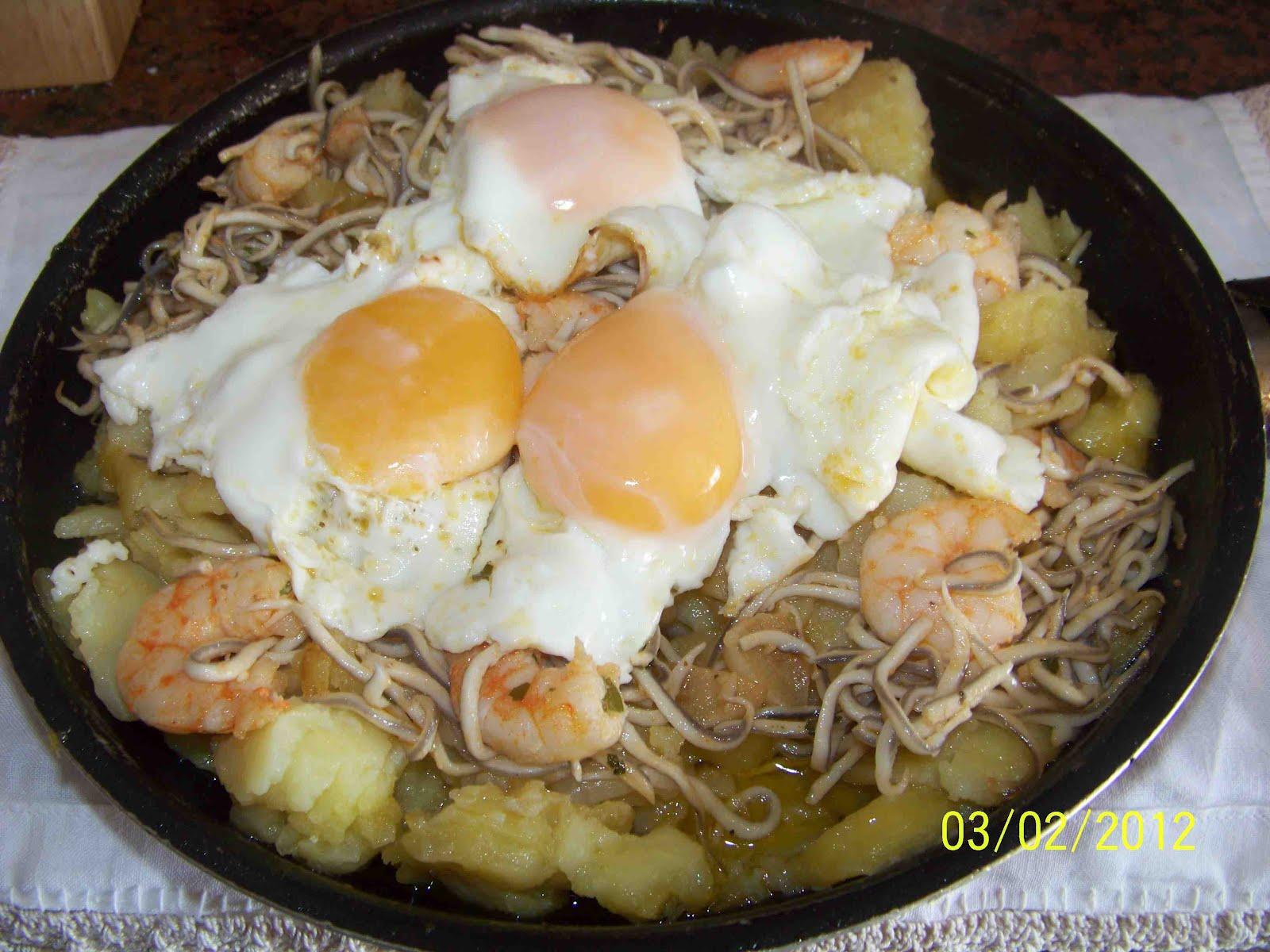 Culinaria Y Otras Cosas Huevos Con Patatas Gulas Y