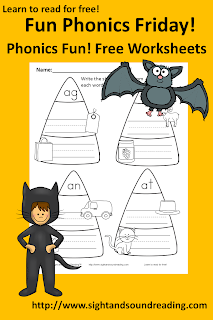 Free Halloween Phonics worksheet