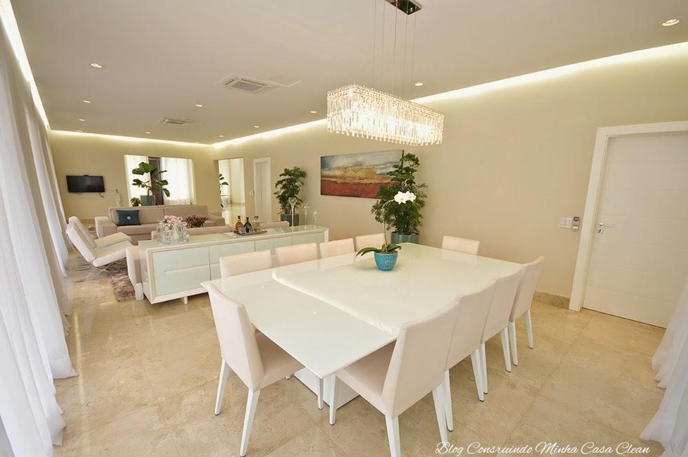 Sala De Jantar Bege E Branca ~  Salas de Jantar Decoradas com Mesas Brancas!!! Veja Dicas e Modelos