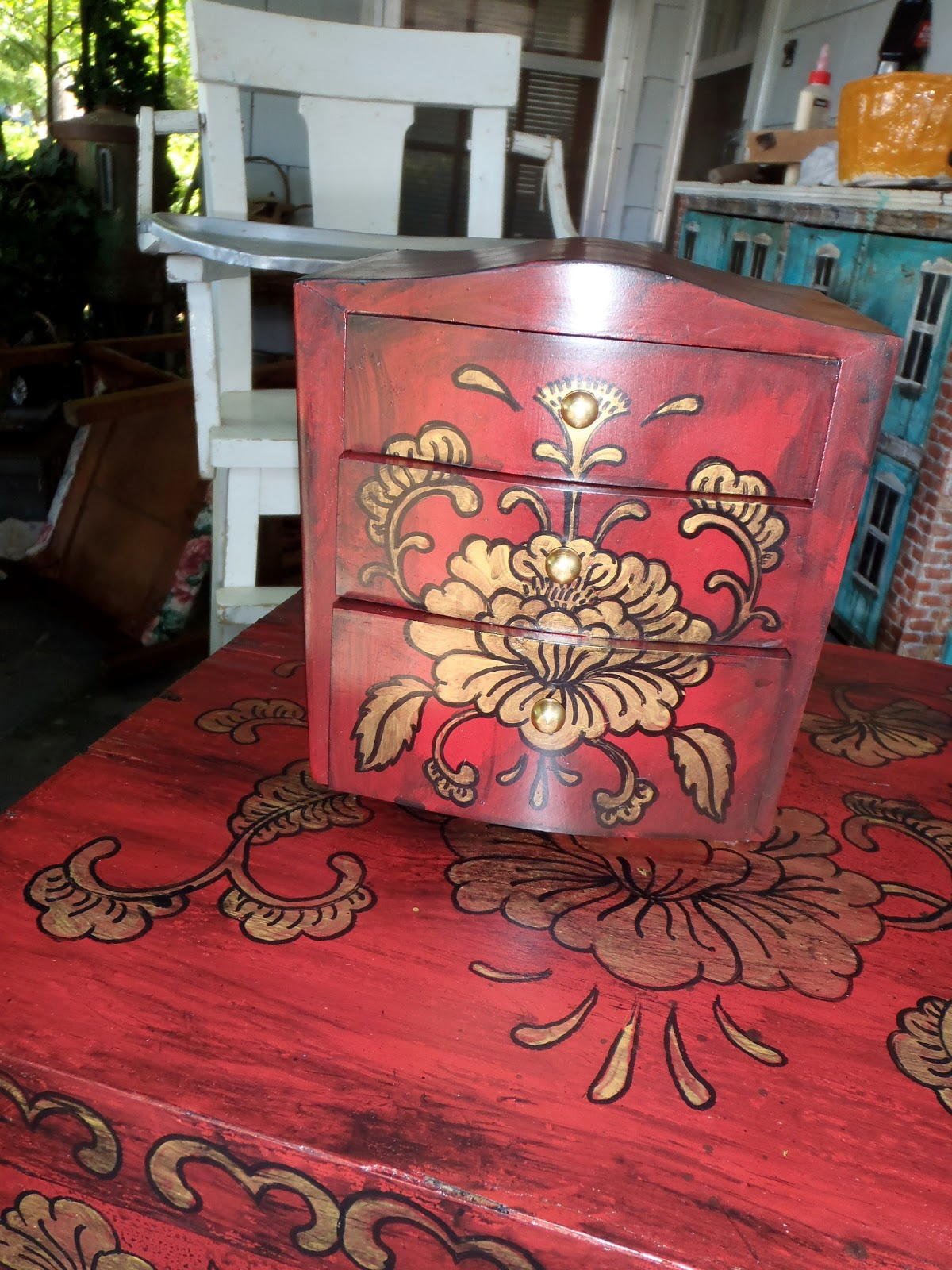 Great Red Painted Furniture