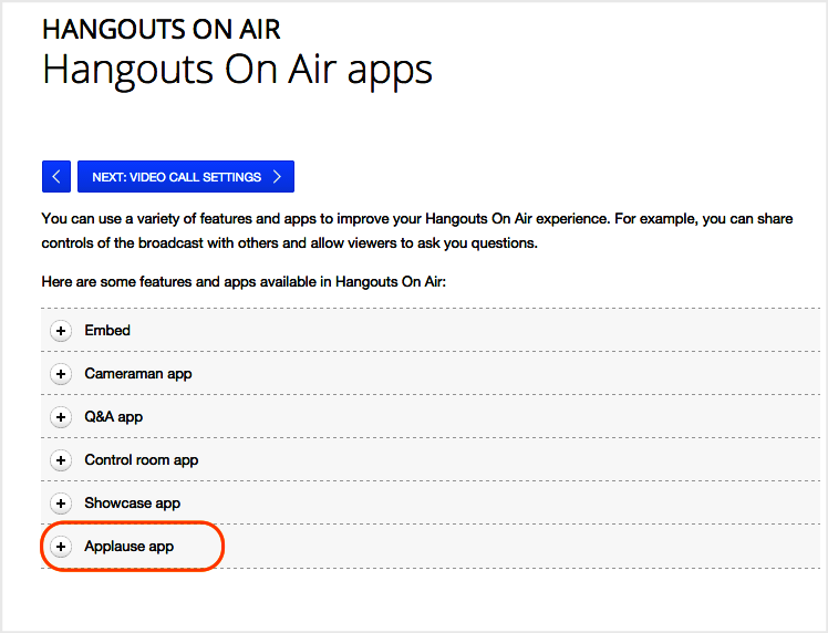 Hangout On Air Apps