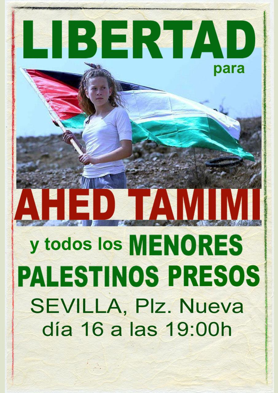 CONCENTRACIÓN: LIBERTAD para AHED TAMIMI y todos los MENORES PALESTINOS PRESOS